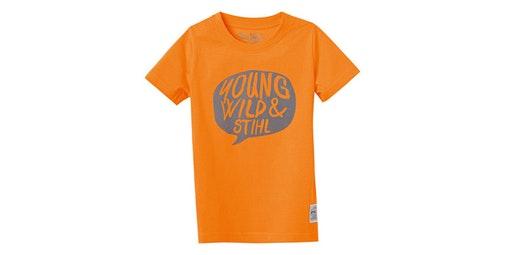 Camiseta «YOUNG WILD» naranja