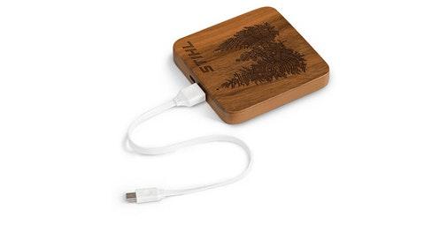 Batería externa de madera