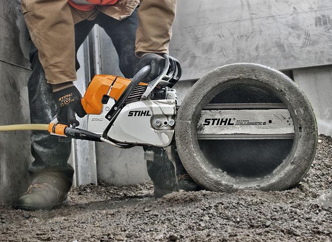 maquinaria de construcción: cortadora de hormigón